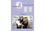 un body cu chilotel extensibil Violet by Andreea Marin Banica din colectia Irina Schrotter Kids
