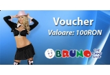 3 x voucher in valoare de 100 RON de la Bruno