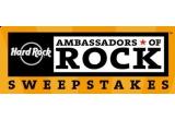 Marele premiu: 4 excursii la 4 concerte Hard Rock Ambassadors of Rock + bani de buzunar (Londra + 3 alte destinatii), excursie de 4 zile la Londra la concertul Hard Rock Ambassadors of Rock + 300$ bani de buzunar, excursie 5 zile la concertul Hard Rock Ambassadors of Rock + 500$ bani de buzunar, 2 x (excursie 5 zile la un concert Hard Rock Ambassadors of Rock + 500$ bani de buzunar)