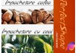 2 x impachetari anticelulitice cu cafea, respectiv cu ceai