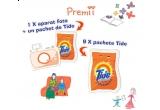 un aparat foto digital Nikon Coolpix L21 + un pachet detergent Tide 2kg; 9 x pachet de detergent Tide