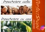 2 impachetari: una cu cafea si una cu ceai verde