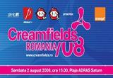 <b>4 invitatii de cate o persoana la festivalul Creamfields Romania </b>ce va avea loc pe data de 2 august pe plaja Saturn.