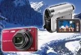 <b>3 x aparat foto Sony DSC-W170, 4 x camera video Sony DCR-HC51E, si o vacanta de iarna de doua persoane.</b><br />