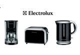 un set Electrolux pentru mic-dejun (un fierbator de apa, un prajitor de paine si o cafetiera)