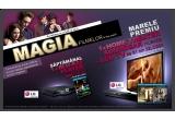 "1 x blu-ray player + film blu-ray/ saptamana, 1 x home theater soundbar cu LCD TV de 81 cm + trilogia ""Stapanul Inelelor"""