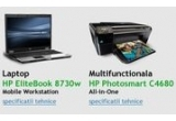 un laptop HP EliteBook 8730w Mobile Workstation, o multifunctionala HP Photosmart C4680 All-in-One