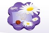 90 x doua cutii de praline Milka Thank You 150 g