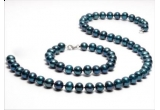 un inel 4 perle placat cu aur alb de 18 karate, o bratara placata cu argint, un set din perle naturale negre (colier si bratara)