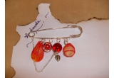6 x bijuterie handmade (3 brose cu maci si 3 brose pe ac)